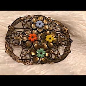 Highly unusual vintage brooch